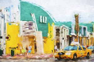 Yellow Cab - In the Style of Oil Painting by Philippe Hugonnard