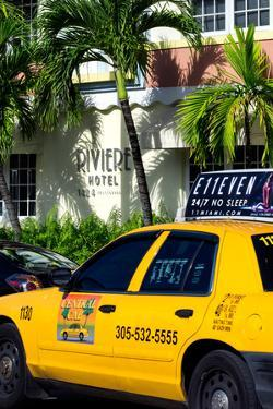 Yellow Cab of Miami Beach - Florida by Philippe Hugonnard