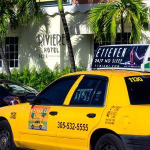 Yellow Cab of Miami Beach - Florida by Philippe Hugonnard