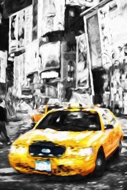 Yellow Taxi II - In the Style of Oil Painting by Philippe Hugonnard