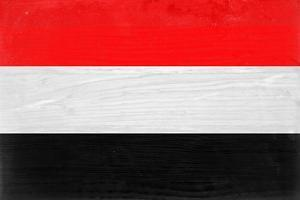 Yemen Flag Design with Wood Patterning - Flags of the World Series by Philippe Hugonnard
