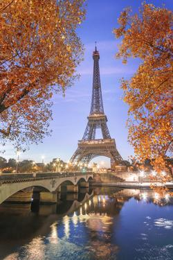 Eiffel Tower in red by Philippe Manguin