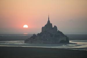 Mont Saint Michel Sunset by Philippe Manguin
