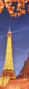 Panoramic Red Eiffel tower by Philippe Manguin
