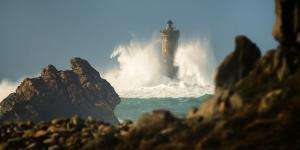 Phare du Four in Brittany by Philippe Manguin