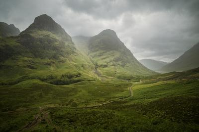 Scotland The Road To Glencoe By The Three Sisters