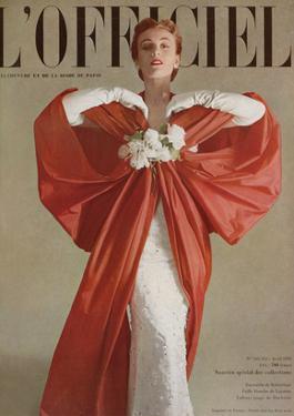 L'Officiel, April 1951 - Ensemble de Balenciaga by Philippe Pottier