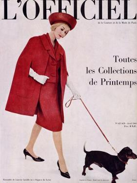 L'Officiel, April 1960 - Ensemble de Lanvin Castillo en Stigaz de Lesur by Philippe Pottier