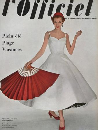 L'Officiel, June 1953 - Robe À Danser de Hubert de Givenchy en Shirting Empesé by Philippe Pottier