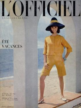 L'Officiel, June 1964 - Ensemble de Pierre Cardin en Toile Fibranne de Staron by Philippe Pottier
