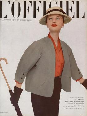L'Officiel, March 1951 - Ensemble de Christian Dior by Philippe Pottier