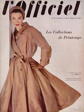 L'Officiel, March 1952 - Manteau de Christian Dior en Surah Chantung de Staron by Philippe Pottier