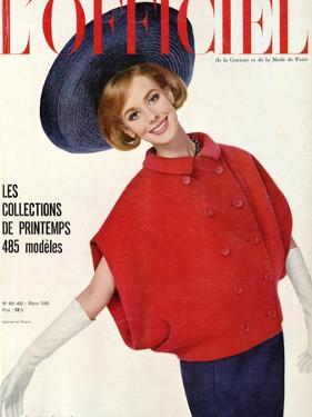 L'Officiel, March 1963 - Ensemble de Christian Dior by Philippe Pottier