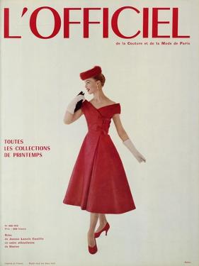 L'Officiel - Robe de Jean Lanvin Castillo en Satin Aléoutienne de Staron by Philippe Pottier