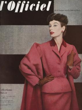 L'Officiel, September 1952 - Tailleur de Christian Dior by Philippe Pottier