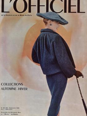 L'Officiel, September 1955 - Ensemble de Christian Dior en Musky de Rodier by Philippe Pottier