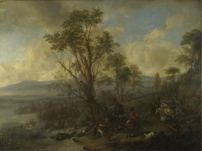 A Stag Hunt, Ca 1665