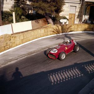 Phill Hill Racing a Ferrari D246, Monaco Grand Prix, Monte Carlo, 1959