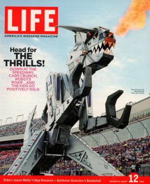 42-foot-tall Monster Truck Robosaurus at Charlotte Motor Speedway, NC, August 12, 2005 by Phillip Toledano