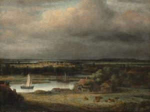 Wide River Landscape, c.1648-49 by Phillips de Koninck