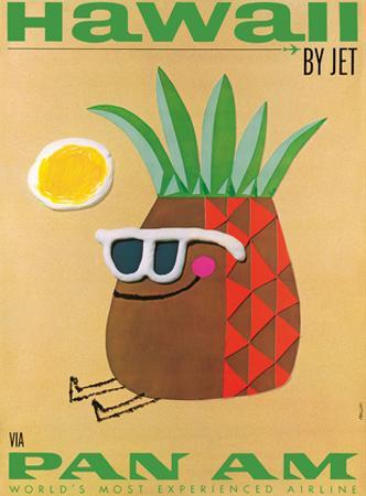 Hawaii by Jet - Pan American Airlines (PAA) - Mr. Pineapple Head by Phillips