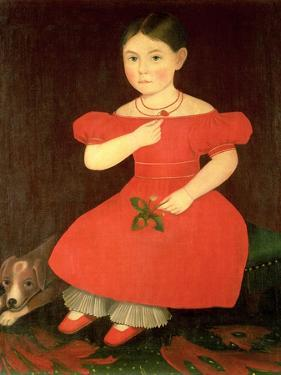 Portrait of a Girl in a Red Dress by Phillips