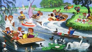 Teddy Bears on the River by Phillips