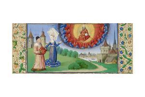 Philosophy Instructing Boethius on the Role of God, Ca 1465