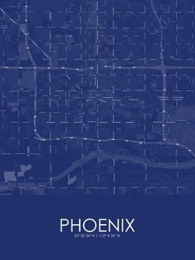 Phoenix, United States of America Blue Map