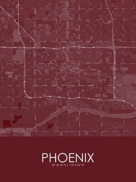 Phoenix, United States of America Red Map