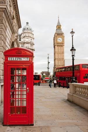 Phone Box London Bus & Big Ben