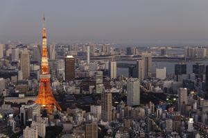 Tokyo Skyline by Photo by Carey Ciuro
