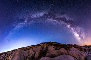 Milky Way Panoramic at Paint Mines by Photo by Matt Payne of Portland Oregon