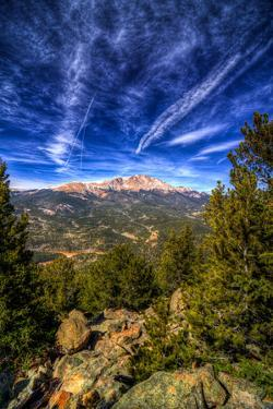 Pikes Peak and Blue Sky by Photo by Matt Payne of Portland Oregon