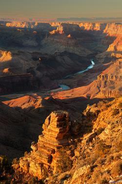 Desert View Sunset by photograph by Quan Yuan