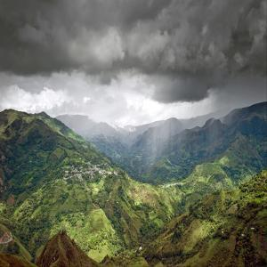 Rainshower over El Aguacate by Photograph by Rory O'Bryen