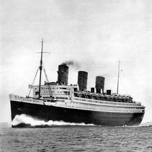 Photograph of the R.M.S. 'Queen Mary' on Sea Trials, Prior to Her Maiden Voyage, May 1936