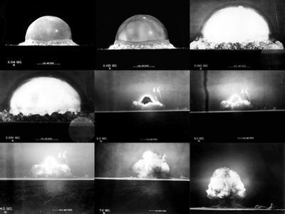 Photographic Sequence of the Trinity Test, the First Manmade Nuclear Explosion