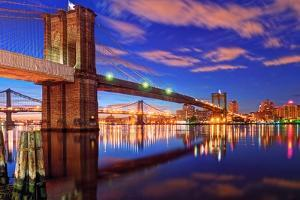 Calm at Dawn on the East River by Photography by Steve Kelley aka mudpig