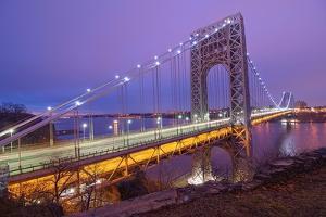 George Washington Bridge by Photography by Steve Kelley aka mudpig