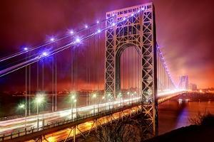 Storm and Bridge by Photography by Steve Kelley aka mudpig