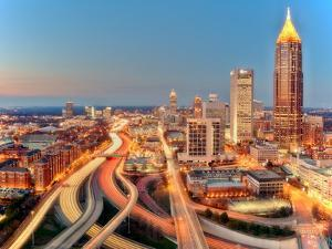 The Lights and Traffic of Atlanta by Photography by Steve Kelley aka mudpig