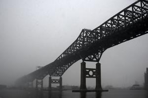 The Pulaski Skyway in the Snow and Fog by Photography by Steve Kelley aka mudpig