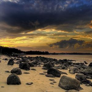 Rocks on Beach by PhotoINC Studio