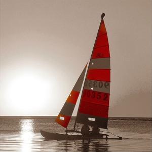 Sailboat Sunset by PhotoINC Studio