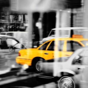Yellow Taxi Reflection by PhotoINC Studio