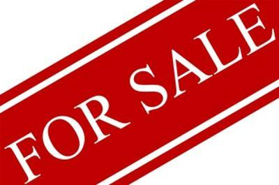 Red and White for Sale Sign by PhotoShopAustralia