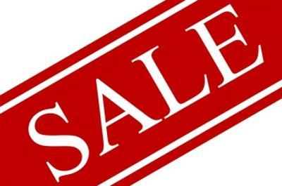 Red and White Sale Sign by PhotoShopAustralia