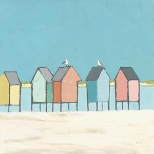 Cabanas II Pastel by Phyllis Adams