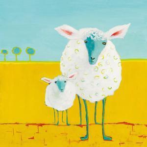 Mama and Baby Sheep by Phyllis Adams